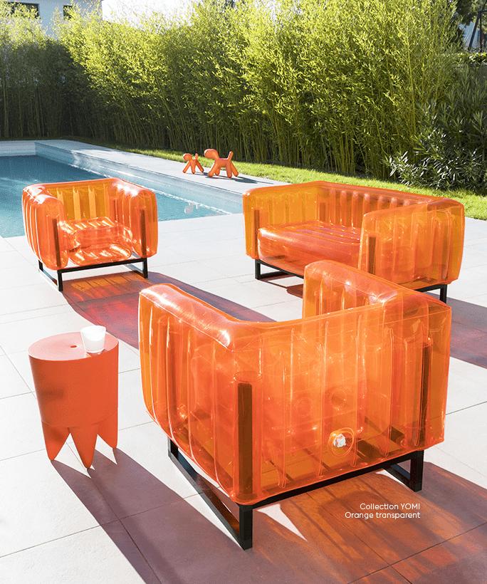 Yomi Orange Transparent
